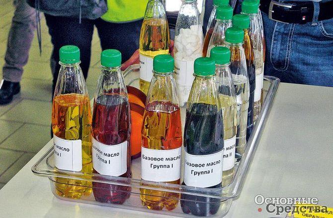 Базовые масла имеют различный цвет, потому что в них уже ввели некоторые присадки