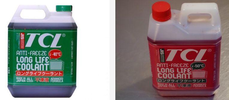 Любопытно, что и красный, и зеленый антифриз TCL заявлены как карбоксилатные