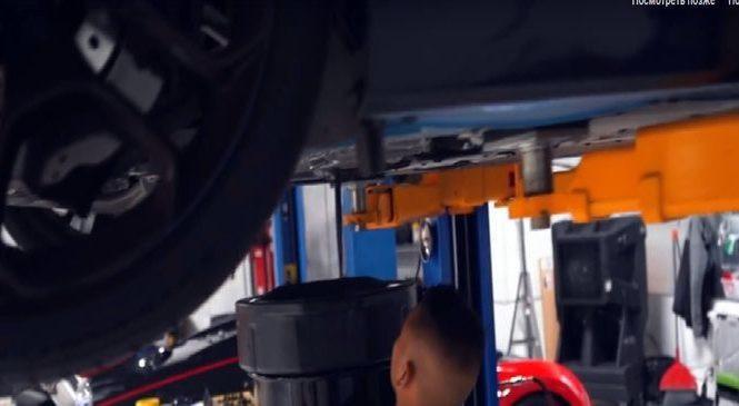 Как меняют масло на Lamborghini?