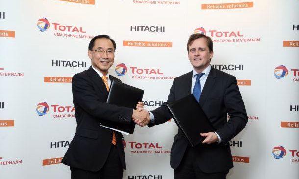 Total начнёт производство оригинальных смазочных материалов под брендом Hitachi Genuine Oil